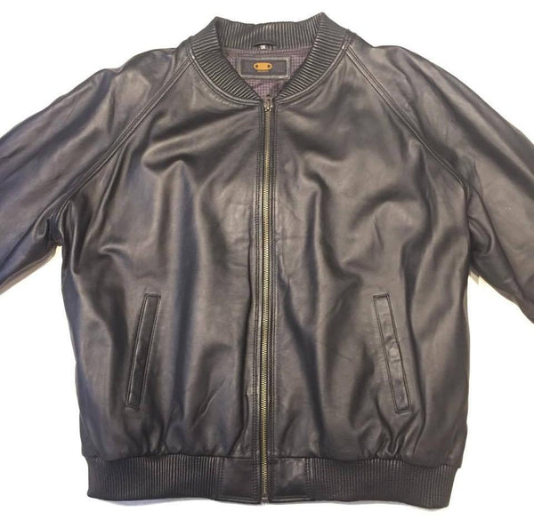 Jakewood Blackout Lamb Classic Bomber Jacket - Dudes Boutique
