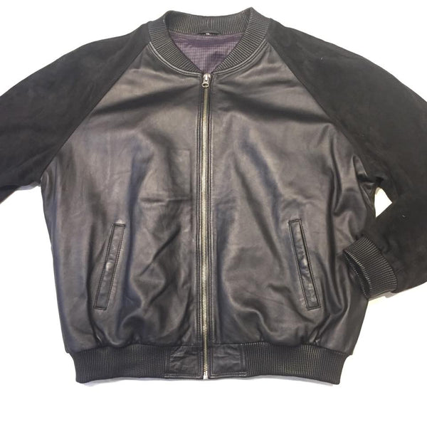 Jakewood Blackout Suede Lamb Classic Bomber Jacket - Dudes Boutique