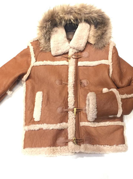 Kashani Maple Fox Shearling Hooded Jacket