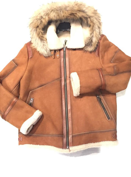Kashani Tobacco Burnish Fox Shearling Jacket