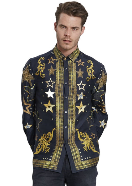 Mondo Limited Edition Black/Gold Royal Star Shirt - Dudes Boutique
