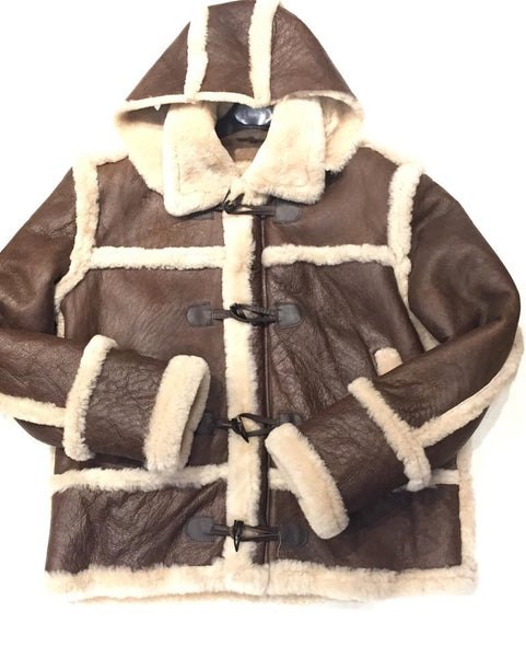 Kashani Tall Chocolate White Shearling Jacket