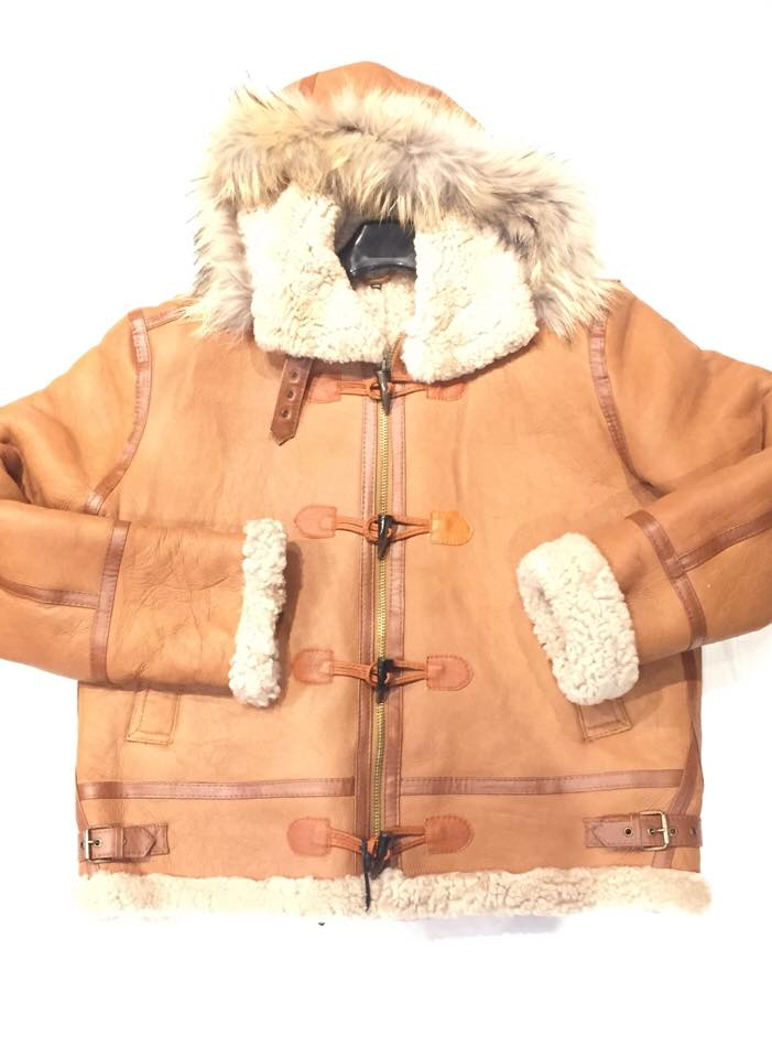 Kashani Buckle Maple Curly Shearling Jacket - Dudes Boutique