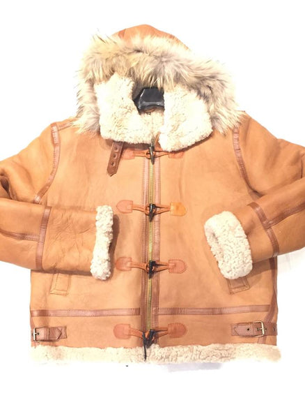 Kashani Buckle Maple Curly Shearling Jacket