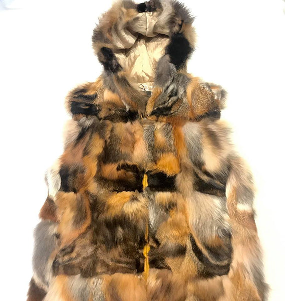 Winter Fur Women's Natural Fox Fur Vest