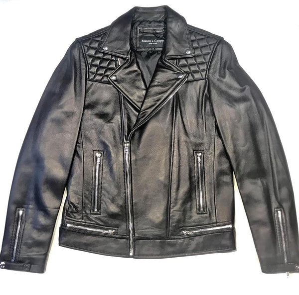 Mason & Cooper Black Astor Biker Jacket - Dudes Boutique