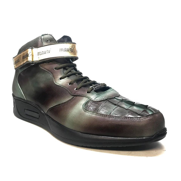 Mauri M764/1 Brown/Green Nappa Leather Hornback Strap Sneaker