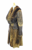 Hoss Couture Women's Natural Suede Fox Fur Swarovski Crystal Trench Coat - Dudes Boutique