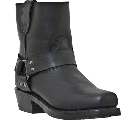 Dingo Men's Black  Zipper Harness Rev Up  Boots