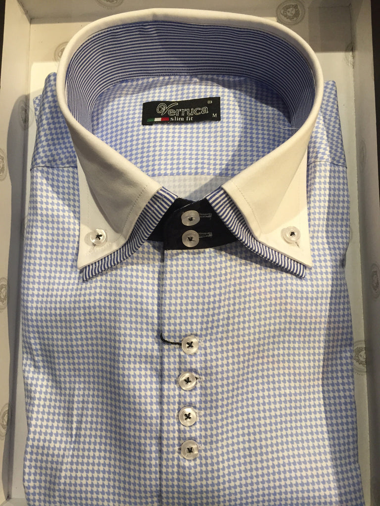 Verruca Slim Fit Button-Up Dress Shirts - Dudes Boutique - 1