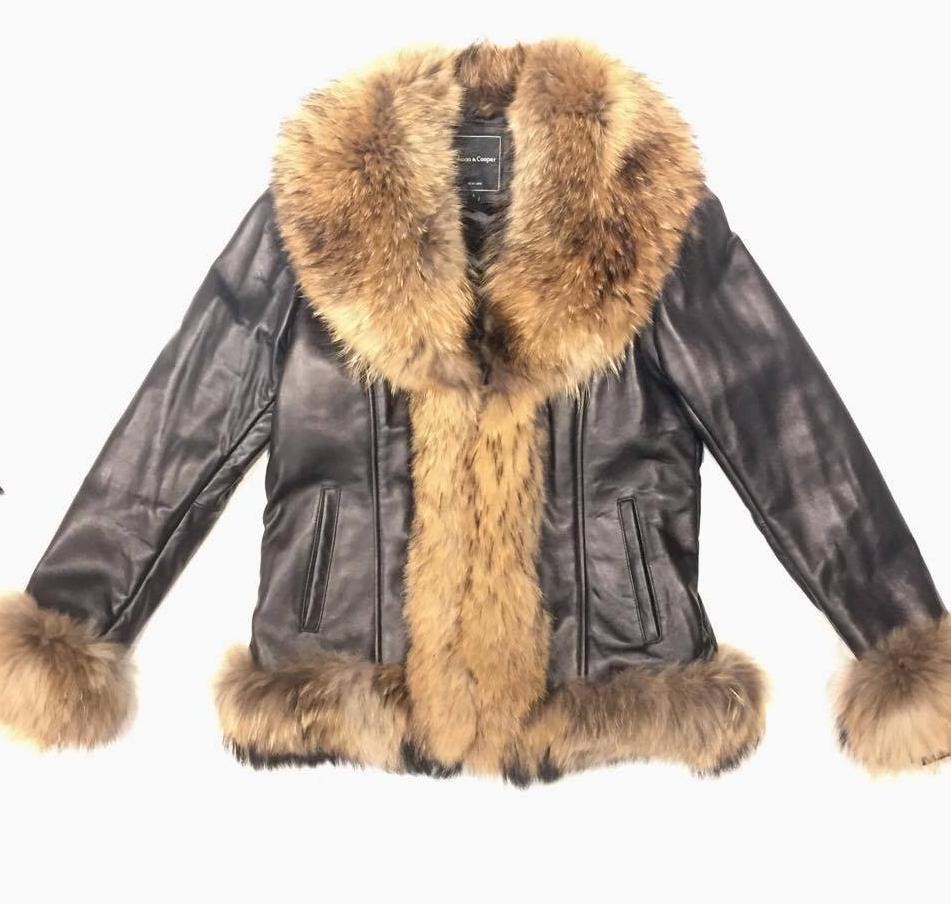 Mason & Cooper Women's Lambskin Jacket with Fox Fur Lining - Dudes Boutique