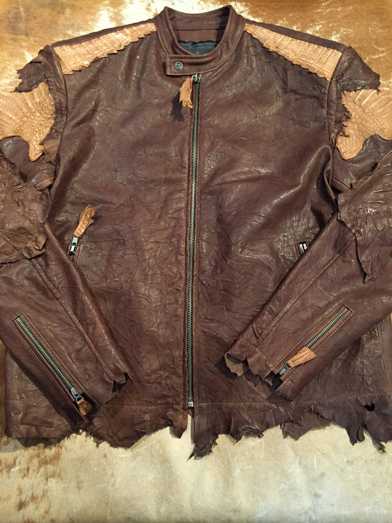 G-Gator Chocolate Alligator/Lamb Jacket - Dudes Boutique - 2