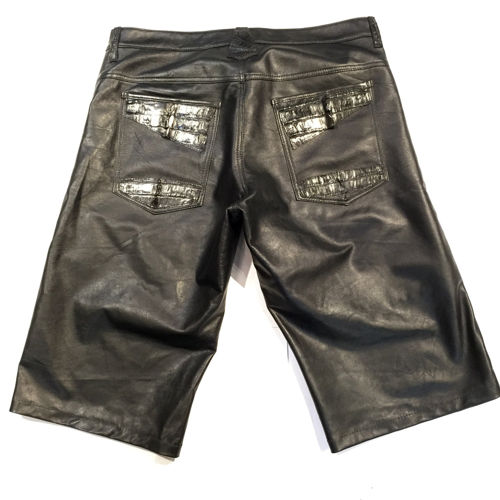 G-Gator - Alligator/Lamb Skin Shorts - Dudes Boutique