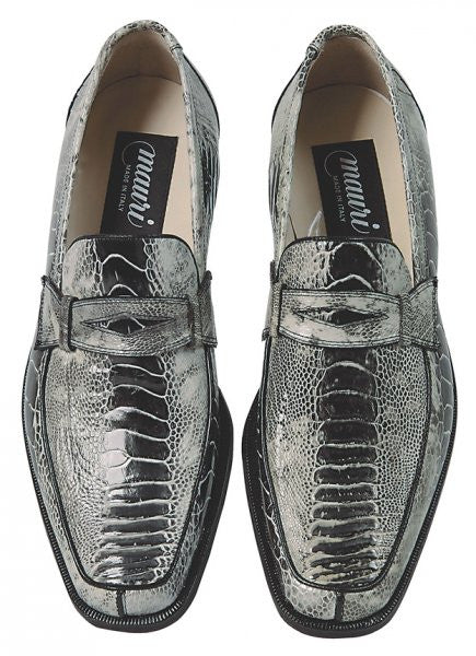 Mauri - 4323 Cambridge Ostrich Leg Penny Loafers - Dudes Boutique - 1