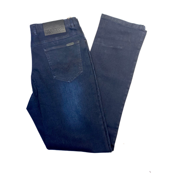 Prestige Dark Blue 5PKT High-end Denim Pants - Dudes Boutique