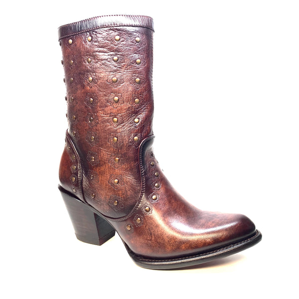 Los Altos Ladies Sunflower Studded Bovine Leather Bootie