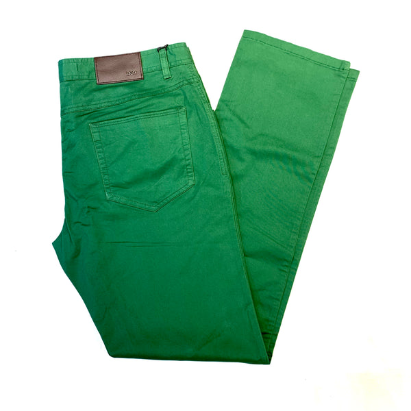 Enzo Green Alpha-166 High End Trousers - Dudes Boutique