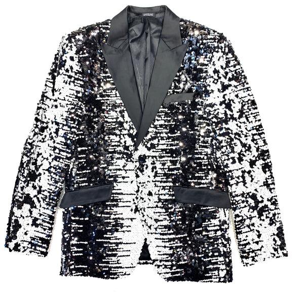 Angelino Monochrome Sequin Blazer