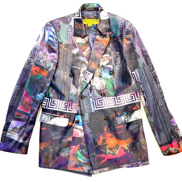 Prestige Milan Double Breasted Multi-color Blazer
