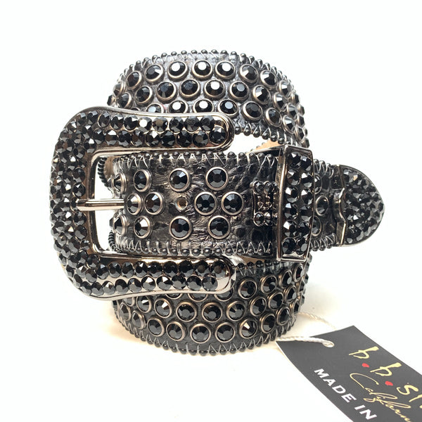 b.b. Simon Blackout Khayyam Fully Loaded Swarovski Crystal Belt