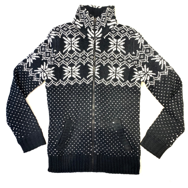 True Rock Men's 'SnowFlake' Full Zipper Sweater