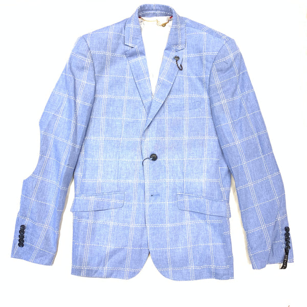 ELIE Stitch Plaid Blazer - Dudes Boutique