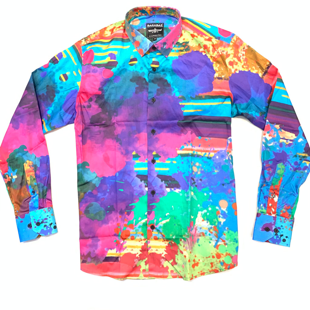 Barabas Soft Paint Button Up Shirt - Dudes Boutique