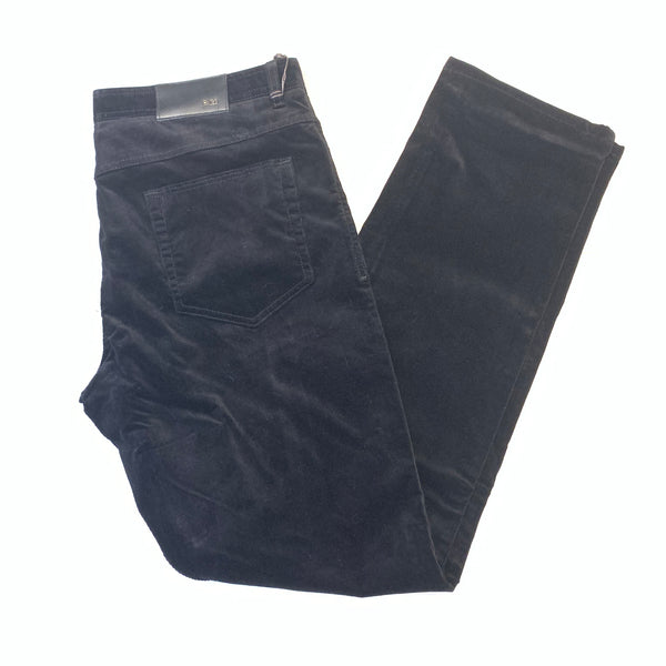 Enzo Alpha-201 Jet Black Corduroy High-End Pant - Dudes Boutique