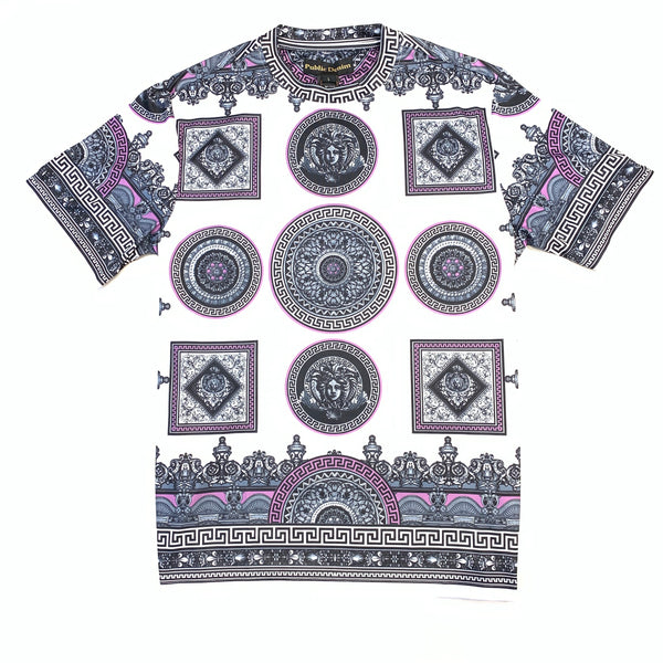 Public Denim Purple Medusa Short Sleeve T-Shirt