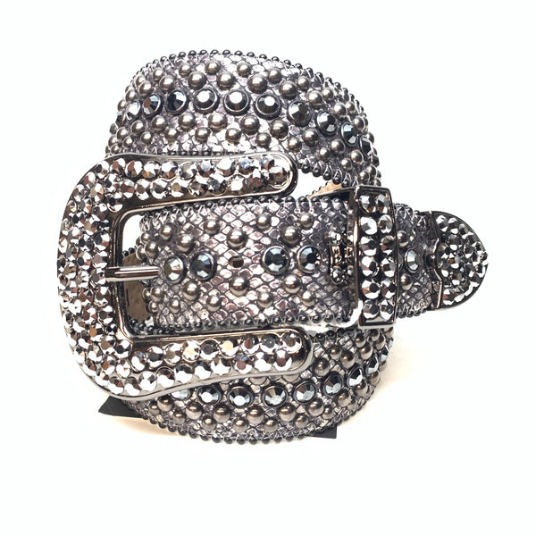 b.b. Simon chrome fully loaded swarovski crystal belt