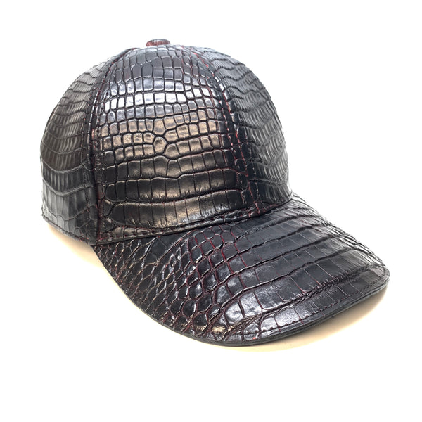Black Cherry All Over Alligator body Strap-back Hat
