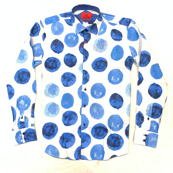 ELIE Blue Abstract Button Up Shirt - Dudes Boutique
