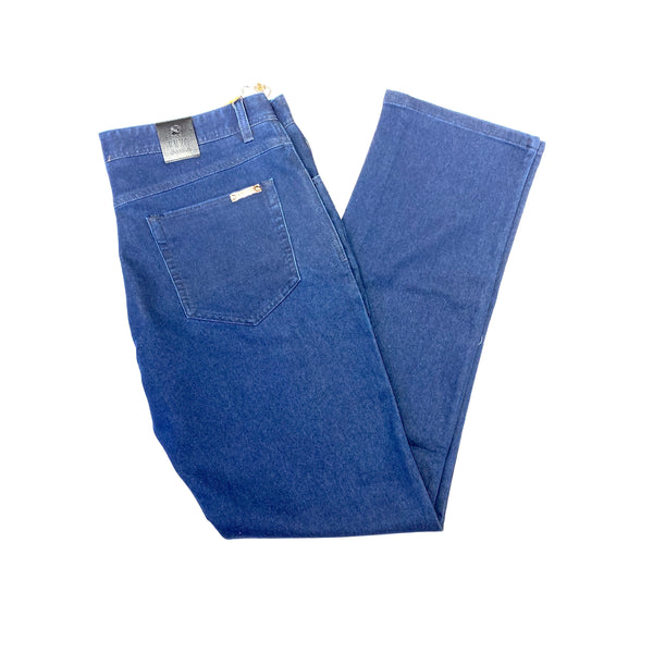 Enzo Deep Blue LEO-5 High End Denim Trousers - Dudes Boutique