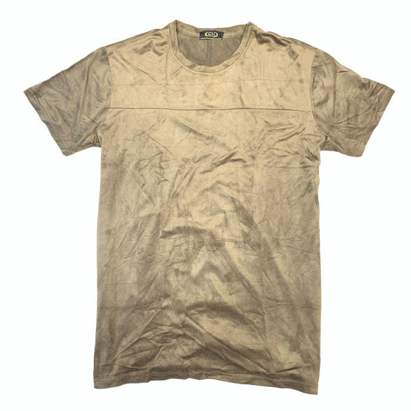 Gold Leaf Olive Green Suede Short Sleeve Shirt - Dudes Boutique