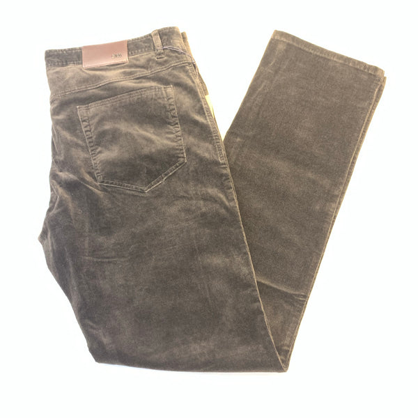 Enzo Alpha-199 Chocolate Brown Corduroy High-end Pants - Dudes Boutique