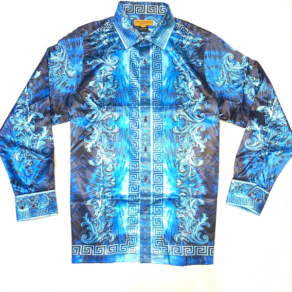 Prestige Navy Silk Milan Button Up Shirt