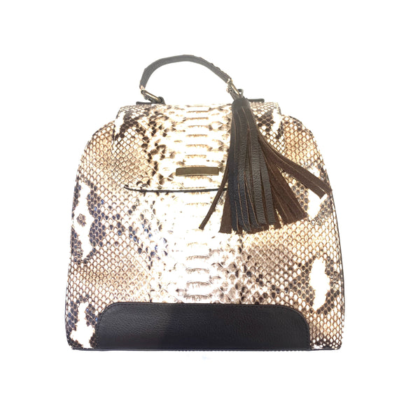 Kashani Ladies Natural Python Skin Handbag