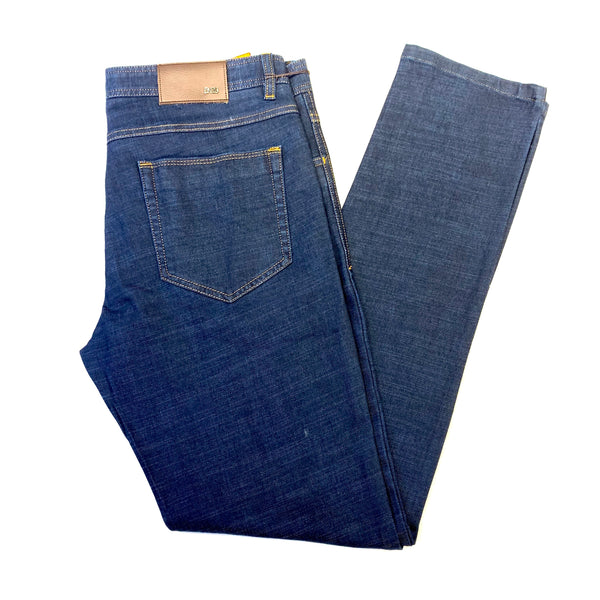 Enzo Blue Soft Betaskin-1 High End Denim Trousers - Dudes Boutique