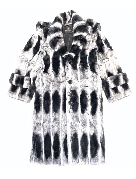 Kashani Men's 3/4 Chinchilla Trench Fur Coat - Dudes Boutique