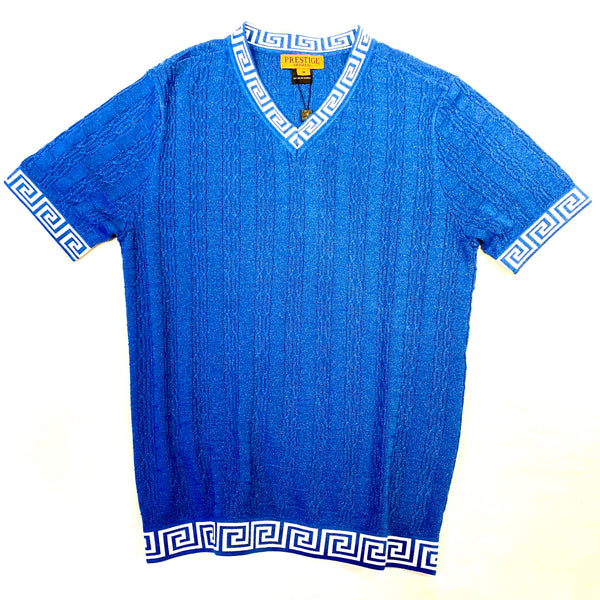 Prestige Royal Cable Knit V-Neck Shirt