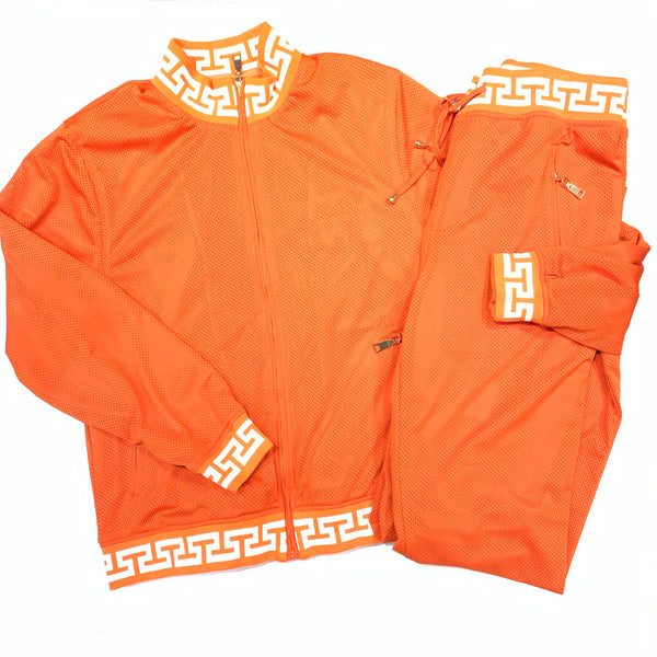 Prestige Orange Fanta Perforated Jogger Set