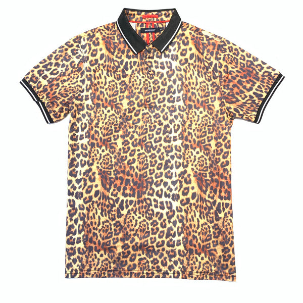 Barabas Cheetah Polo Shirt