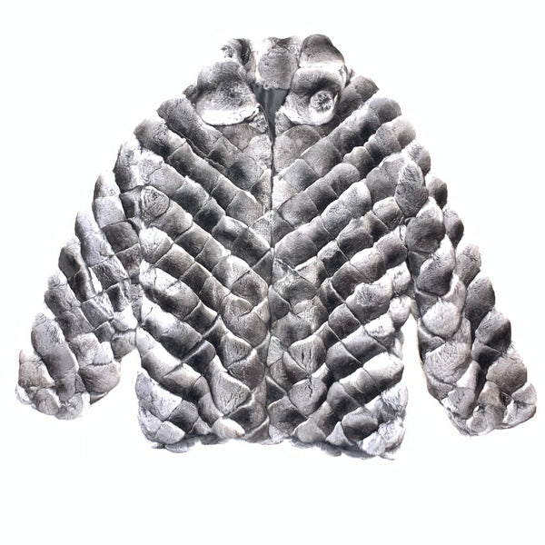 Kashani Men's Diamond Cut Full Chinchilla Coat - Dudes Boutique