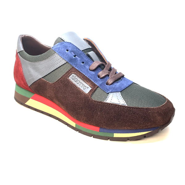 Sigotto Suede ColorBlock Sneakers - Dudes Boutique