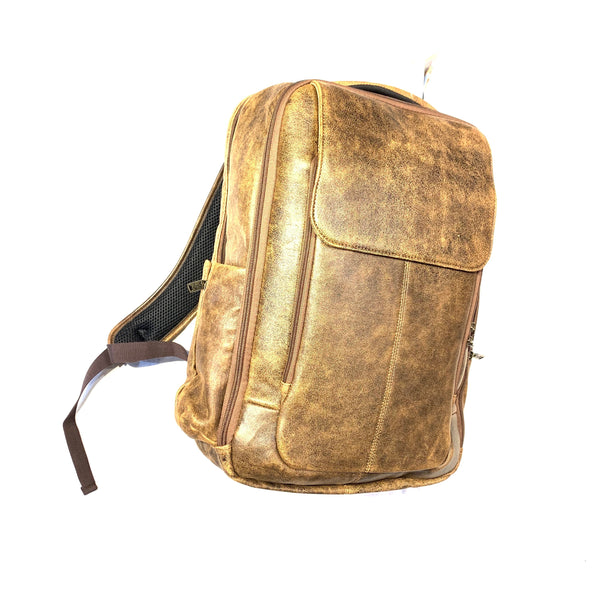 Scully Distressed  Brown Leather Backpack