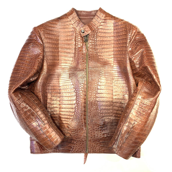 Kashani Chocolate Full All Over Alligator Jacket