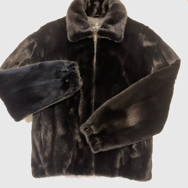 Kashani Black Full Mink Fur Coat - Dudes Boutique
