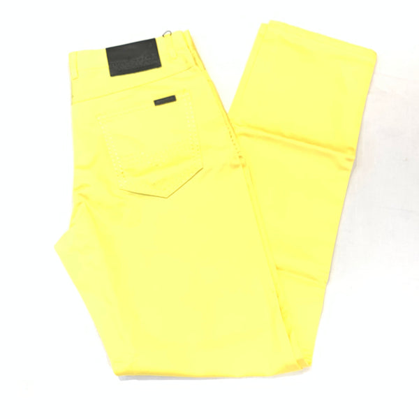 Prestige Canary Yellow Double Stitched High-end Pants - Dudes Boutique