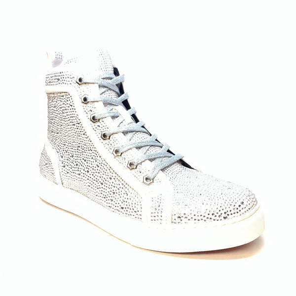 Fiesso Full Crystal Hightop Sneakers - Dudes Boutique