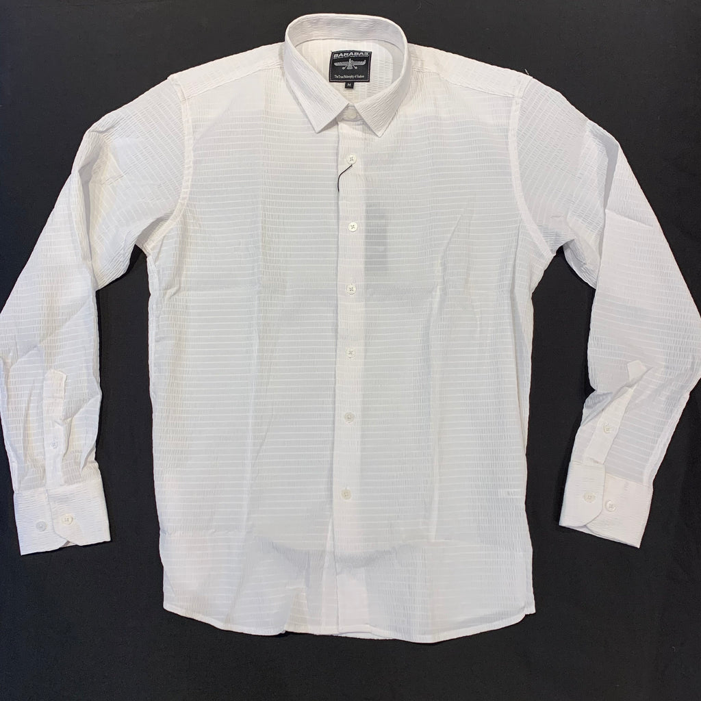 Barabas White Grid Button Up Shirt - Dudes Boutique